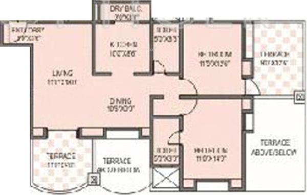 Kunal Regulus (2BHK+2T (867 sq ft) Apartment 867 sq ft)