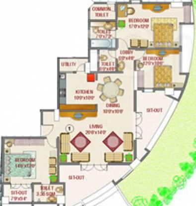 Rohan Aasman (3BHK+4T (1,600 sq ft) Apartment 1600 sq ft)