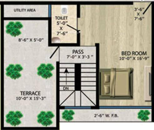 Vision Heights (1BHK+1T (770 sq ft) Apartment 770 sq ft)