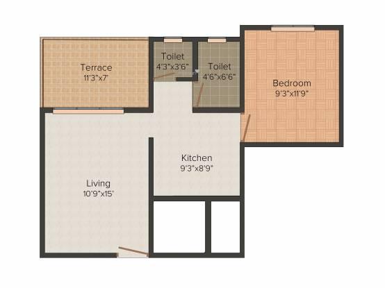 Dhavel Nilayam (1BHK+1T (519 sq ft) Apartment 519 sq ft)