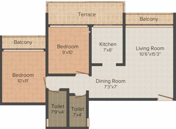Shailesh Riddhi Siddhi Residency (2BHK+2T (1,115 sq ft) Apartment 1115 sq ft)