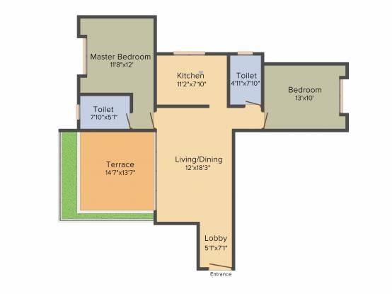 Swojas Aavishkar (2BHK+2T (1,248 sq ft) Apartment 1248 sq ft)