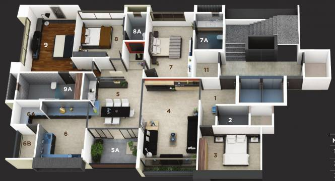 Straft Luxuria (4BHK+4T (3,240 sq ft) Apartment 3240 sq ft)