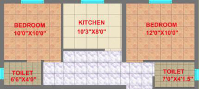 CC Ruvanthika Enclave (2BHK+2T (871 sq ft) Apartment 871 sq ft)