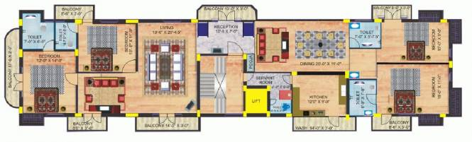 India The Golden Trident (4BHK+4T (2,805 sq ft)   Servant Room Apartment 2805 sq ft)