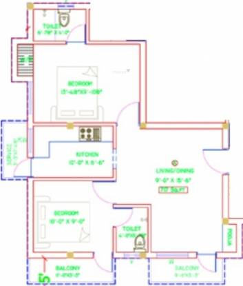 Amman Mithuna Apartment (2BHK+2T (846 sq ft) + Pooja Room Apartment 846 sq ft)