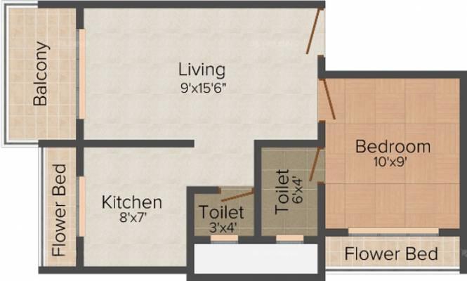 Soham Shakti (1BHK+2T (665 sq ft) Apartment 665 sq ft)