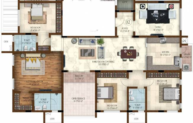 Casagrand Joybijoy (4BHK+3T (2,400 sq ft) Apartment 2400 sq ft)