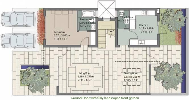 Unitech Espace Nirvana Country (3BHK+5T (2,928 sq ft) + Servant Room Villa 2928 sq ft)