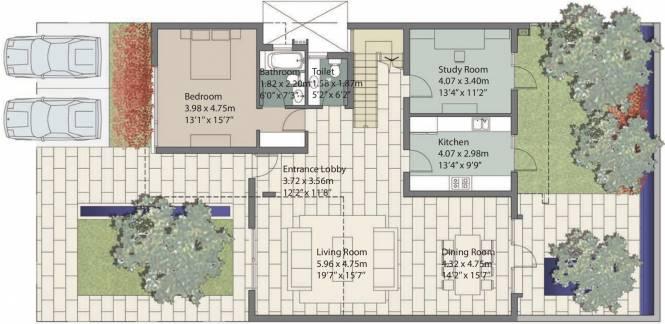 Unitech Espace Nirvana Country (4BHK+6T (4,076 sq ft) + Servant Room Villa 4076 sq ft)