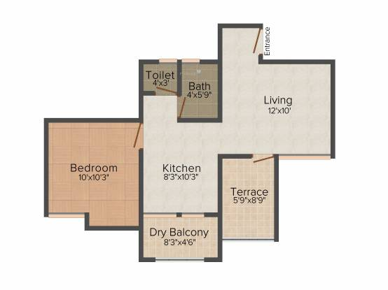 Sree Little Hearts (1BHK+1T (651 sq ft) Apartment 651 sq ft)