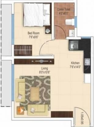 Ajmera Heritage City (1BHK+1T (432 sq ft) Apartment 432 sq ft)