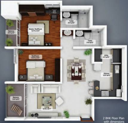 Northern City (2BHK+2T (1,180 sq ft) Apartment 1180 sq ft)