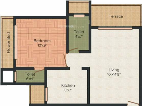 RD Parvati Castle (1BHK+2T (725 sq ft) Apartment 725 sq ft)