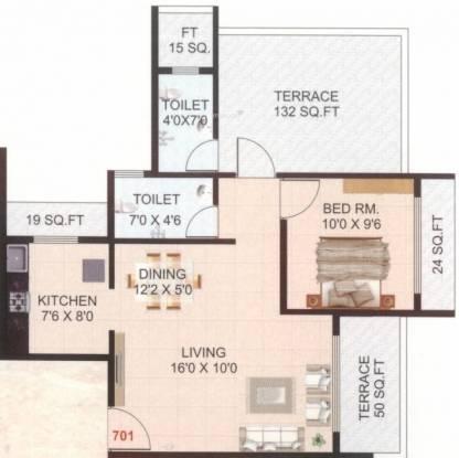 HG Royal Residency (1BHK+2T (990 sq ft) Apartment 990 sq ft)