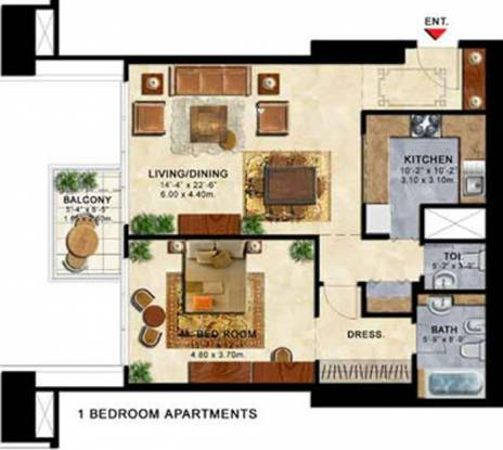 ETA Star The Palladium ETA Star The Palladium (1BHK+2T)