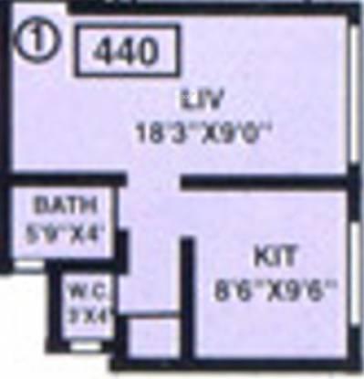 Baria Ambo Vihar (1BHK+1T (440 sq ft) Apartment 440 sq ft)