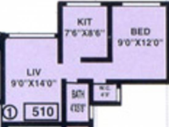 Baria Ambo Vihar (1BHK+1T (510 sq ft) Apartment 510 sq ft)