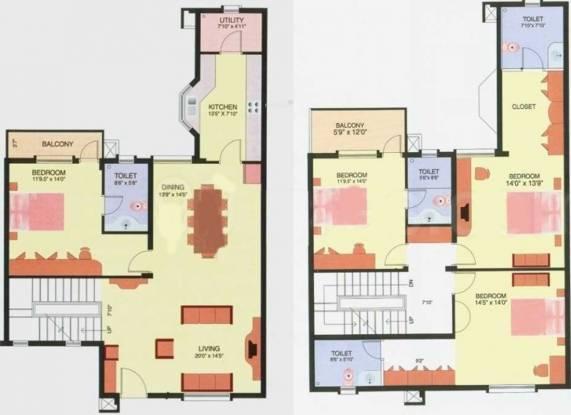 Prestige Langleigh (4BHK+4T (2,400 sq ft) Villa 2400 sq ft)