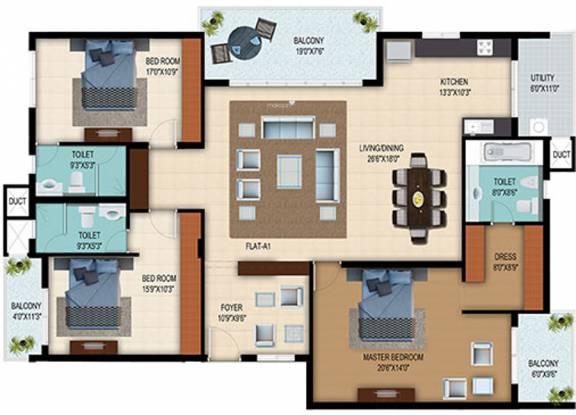 Veracious Park West (3BHK+3T (2,580 sq ft) Apartment 2580 sq ft)