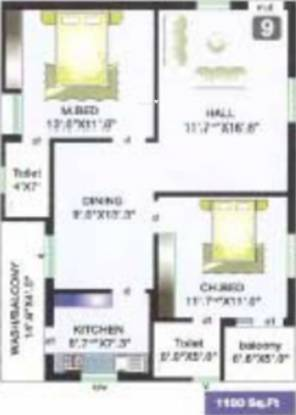 Sreemitra Heights (2BHK+2T (1,100 sq ft) Apartment 1100 sq ft)