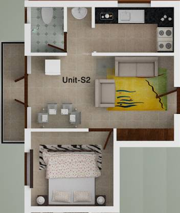 ACE Olive (1BHK+1T (536 sq ft) Apartment 536 sq ft)