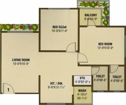 Vaishnodevi Heights (2BHK+2T (1,084 sq ft) Apartment 1084 sq ft)
