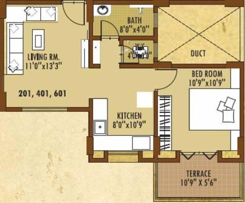 Anjani Anjanii Gaatha (1BHK+1T (600 sq ft) Apartment 600 sq ft)