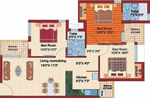 Rudra Jagdambe Apartments (3BHK+2T (1,510 sq ft) Apartment 1510 sq ft)
