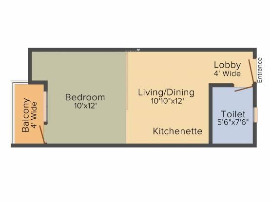 Designarch E Homes (1BHK+1T (550 sq ft) Apartment 550 sq ft)