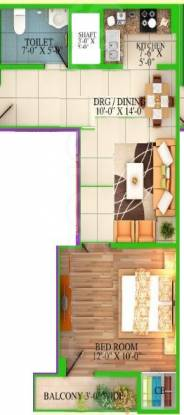 Saj Realtech Pvt Ltd Tower (1BHK+1T (500 sq ft) Apartment 500 sq ft)
