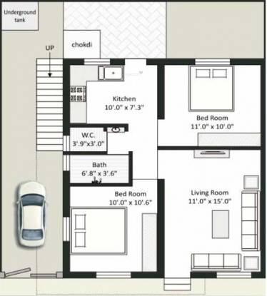 Dream Residency (2BHK+1T (750 sq ft) Villa 750 sq ft)