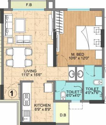 Vijay Vatika (1BHK+2T (725 sq ft) Apartment 725 sq ft)