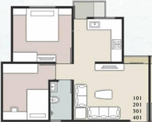 Shreeji Samruddhi (2BHK+1T (810 sq ft) Apartment 810 sq ft)
