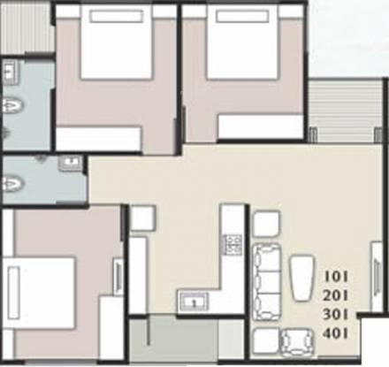 Shreeji Samruddhi (3BHK+2T (930 sq ft) Apartment 930 sq ft)