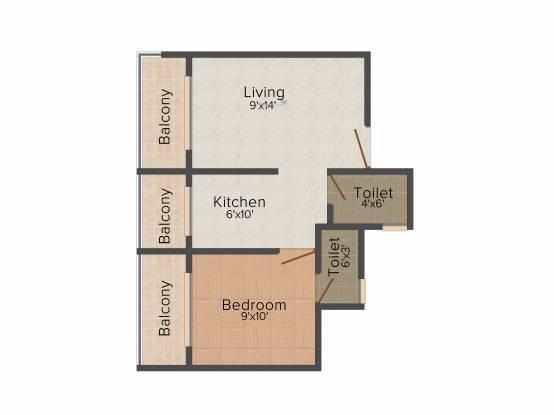 Yashraj Sai Simran (1BHK+2T (625 sq ft) Apartment 625 sq ft)