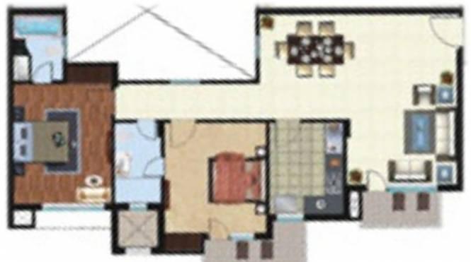 Rohtas Platina (2BHK+2T (1,275 sq ft) Apartment 1275 sq ft)