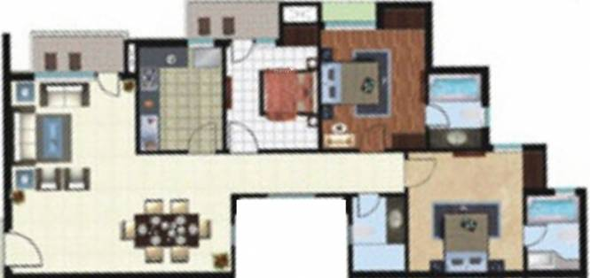 Rohtas Platina (3BHK+3T (1,375 sq ft) Apartment 1375 sq ft)