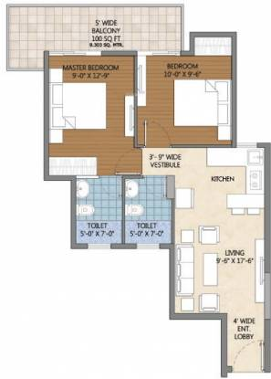 Pivotal Devaan (2BHK+2T (583 sq ft) Apartment 583 sq ft)