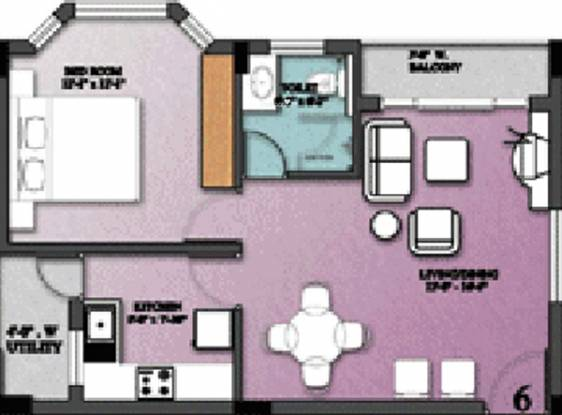 Nugget Belvedere (1BHK+1T (781 sq ft) Apartment 781 sq ft)
