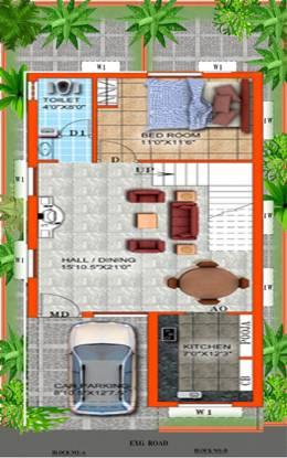 TK Jasmine Grove (2BHK+2T (920 sq ft) Villa 920 sq ft)
