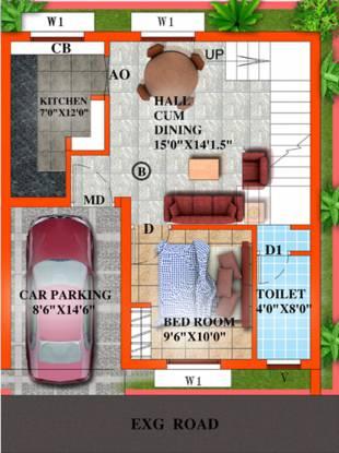 TK Jasmine Grove (3BHK+3T (1,593 sq ft) Villa 1593 sq ft)