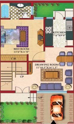 Amrapali Modern City Villa (3BHK+3T (970 sq ft) Villa 970 sq ft)