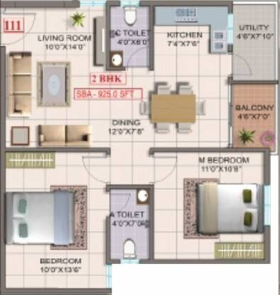 MK Builders and Developers Friends Nest (2BHK+2T (925 sq ft) Apartment 925 sq ft)