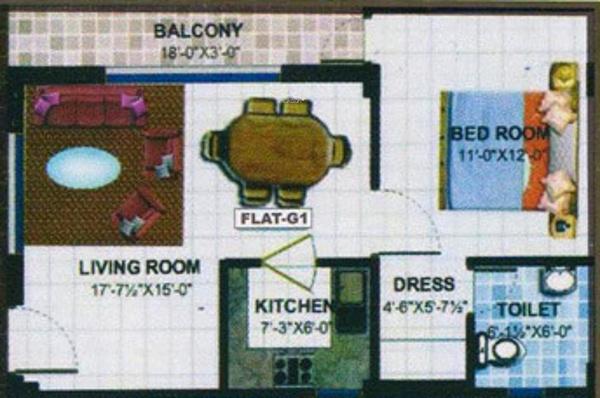 IBIS Classic Apartments (1BHK+1T (650 sq ft) Apartment 650 sq ft)