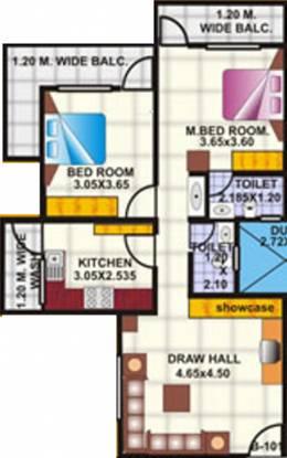 Amrapali Nagpur Apartment (2BHK+2T (900 sq ft) Apartment 900 sq ft)