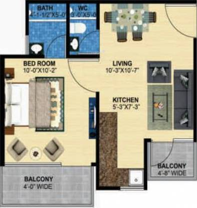 Perfect Zara Aavaas (1BHK+1T (301 sq ft) Apartment 301 sq ft)
