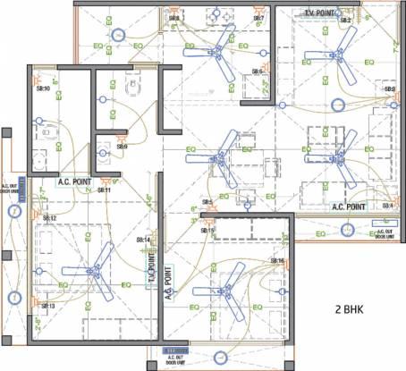 A Shridhar Kaveri Pratham (2BHK+2T (1,092 sq ft) Apartment 1092 sq ft)