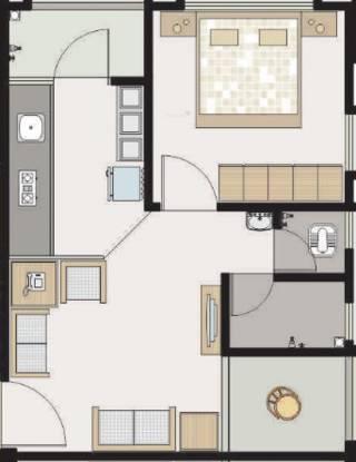 Akshay Residency (1BHK+1T (666 sq ft) Apartment 666 sq ft)