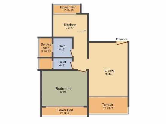 Chamunda Hill Crest (1BHK+2T (675 sq ft) Apartment 675 sq ft)